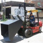 3噸現代柴油叉車附件鏟斗鉸鏈叉和鏟斗